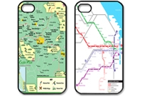 Metro Map Iphone 4 ,4s cases