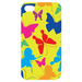 color butterfly Custom Case for iPhone 4,4S