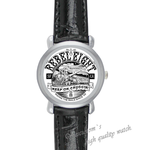 Leather Watches rebel eight Black Leather Alloy High-grade Watch