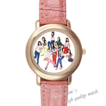 Leather Watches Girls'Generation Pink Leather Alloy High-grade Watch Model201