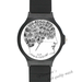 Plastic Watches JLA Custom Black Plastic High Quality Watch(Round)