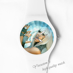 Plastic Watches Lady Gaga rock style Custom ladies plastic watch