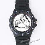 Plastic Watches tiger and child Custom Black plastic high quality watch