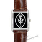 Leather Watches for the sick Square Leather Alloy High-grade  Watch