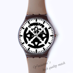 Plastic Watches Abstract geometrical design Custom classic  photo watch