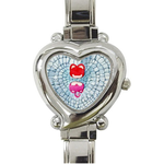 Metal Watches Ali couple's first date Custom Heart-Shaped Italian Charm Watch