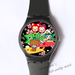 Plastic Watches Ali family's big dinner Custom ladies plastic watch