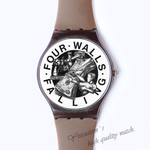 Plastic Watches four falling walls Custom classic  photo watch
