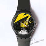 Plastic Watches flash light Custom classic  photo watch