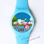 Plastic Watches Ali baby and penguins Custom classic  photo watch
