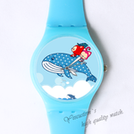 Plastic Watches Ali jump over the sea Custom classic  photo watch