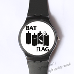 Plastic Watches bat flag Custom classic  photo watch