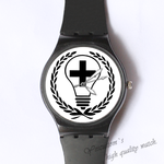 Plastic Watches cross bulb Custom classic  photo watch