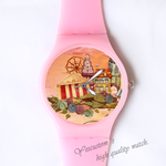 Plastic Watches old castle for her Custom classic  photo watch