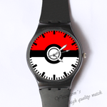 Plastic Watches red&white Custom classic  photo watch