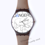 Plastic Watches rhinoceros Custom classic  photo watch