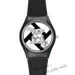 Plastic Watches sheep and goat Custom Black plastic high quality  watch(Round)2