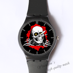 Plastic Watches skull head occur Custom classic  photo watch