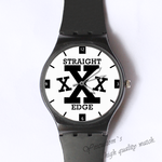 Plastic Watches straight edge Custom classic  photo watch