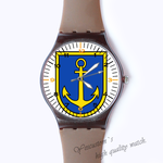 Plastic Watches team logo Custom classic  photo watch