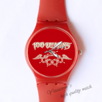 Plastic Watches wings Custom classic  photo watch
