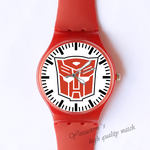Plastic Watches transformers logo Custom classic  photo watch