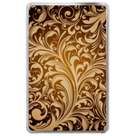 Golden&Big Flowers Hard Cover Case for Kindle Fire