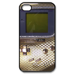 Grey Metal Gameboy Custom Custom Case for iPhone 4,4S