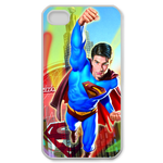 iPhone 4S case superman before the tower Custom Case for iPhone 4,4S  