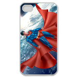 iPhone 4S case superman on the moonscape Custom Case for iPhone 4,4S  
