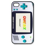 White & Blue Gameboy Custom  Custom Case for iPhone 4,4S
