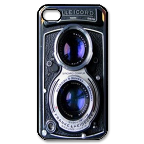 Black Vintage Camera Print Custom iPhone 4,4S Case Custom Case for iPhone 4,4S  