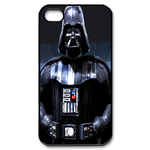 Strong Star Wars Darth Vader  on Black Custom Custom Case for iPhone 4,4S