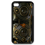 Gold Vintage Camera Design Custom iPhone 4,4S Case Custom Case for iPhone 4,4S