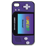 Purple heart Gameboy Custom Custom Case for iPhone 4,4S