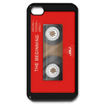 Red Cassette Custom iPhone 4,4S Case Custom Case for iPhone 4,4S  
