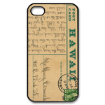 retro postcard Custom Case for iPhone 4,4S