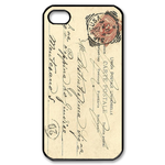 vintage postcard Custom Case for iPhone 4,4S