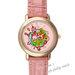 Leather Watches Ali's happy journey For Families Pink Leather Alloy High-grade Watch