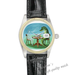 Leather Watches beauty and dinosaur Black Leather Alloy High-grade Watch