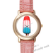 Leather Watches ice cream Pink Leather Alloy High-grade Watch