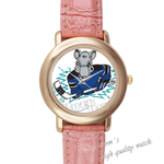 Leather Watches river rats Pink Leather Alloy High-grade Watch