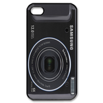 Slick Black Custom Camera iPhone 4,4S Case Custom Case for iPhone 4,4S