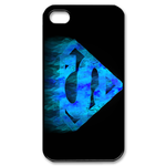 iPhone 4S case blue flame superman logo Custom Case for iPhone 4,4S