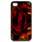 iPhone 4S case burning superman logo Custom Case for iPhone 4,4S
