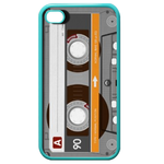 Transparent Cassette iPhone 4,4S Case (Blue) Custom Cases for Iphone 4,4s (Blue)