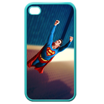 iPhone 4S case flying superman Custom Cases for Iphone 4,4s (Blue)