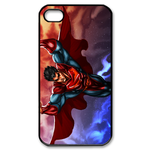 iPhone 4S case superman and colorful clouds Custom Case for iPhone 4,4S