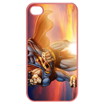 iPhone 4S case superman and evening glow Cases for  Iphone 4,4s(Pink)