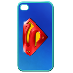 iPhone 4S case superman-blue background Custom Cases for Iphone 4,4s (Blue)